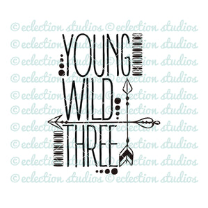 Young Wild & Three with arrows SVG