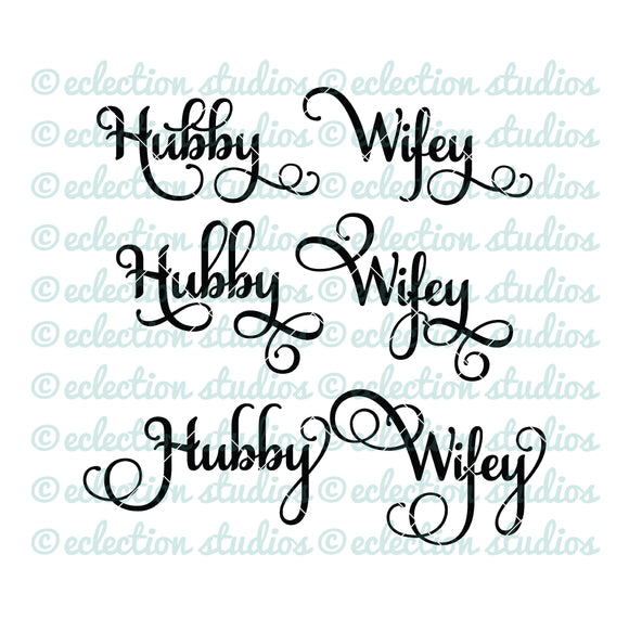 Hubby and Wifey SVG