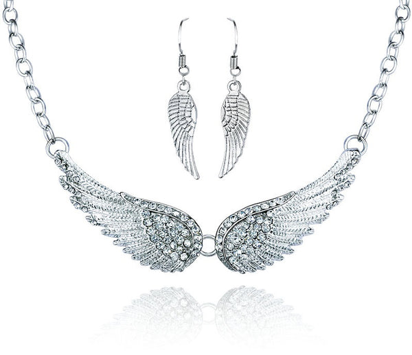 Angle Wings Choker Necklace Free + Shipping
