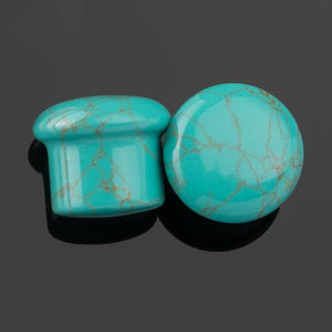"Turquoise Single Flare Plugs 8G (3mm) - 5/8"" (16mm)"