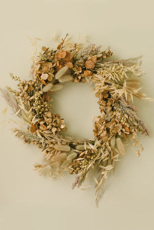 Christmas Wreath - Organic Natural