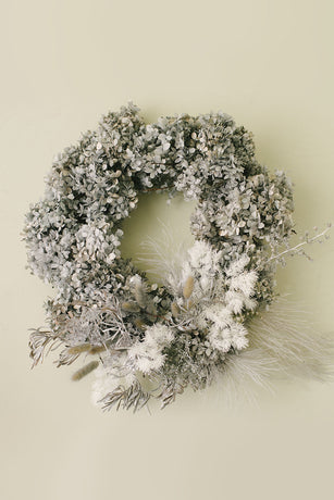 Christmas Wreath - Silver & White