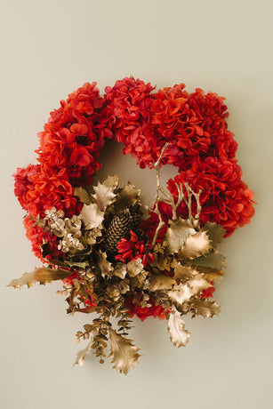 Christmas Wreath - Red & Gold