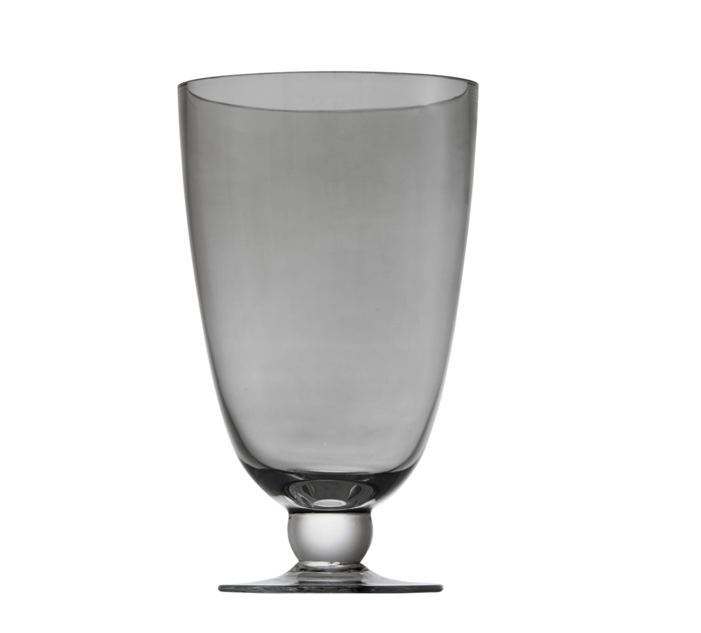 Footed Vase 30cm Lustre Black