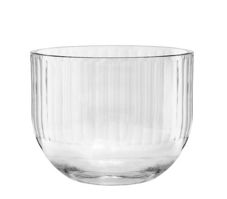 Round Vase Clear Full Cut Out 15cm