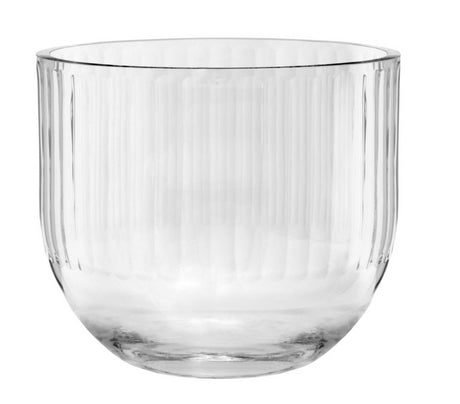 Round Vase Clear Full Cut Out 25cm