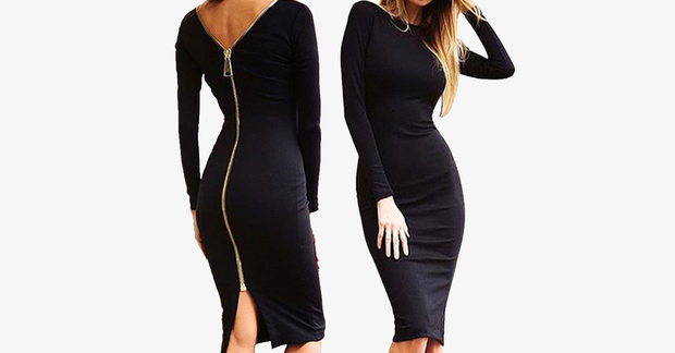 Bodycon Sexy Fitted Zip Dress