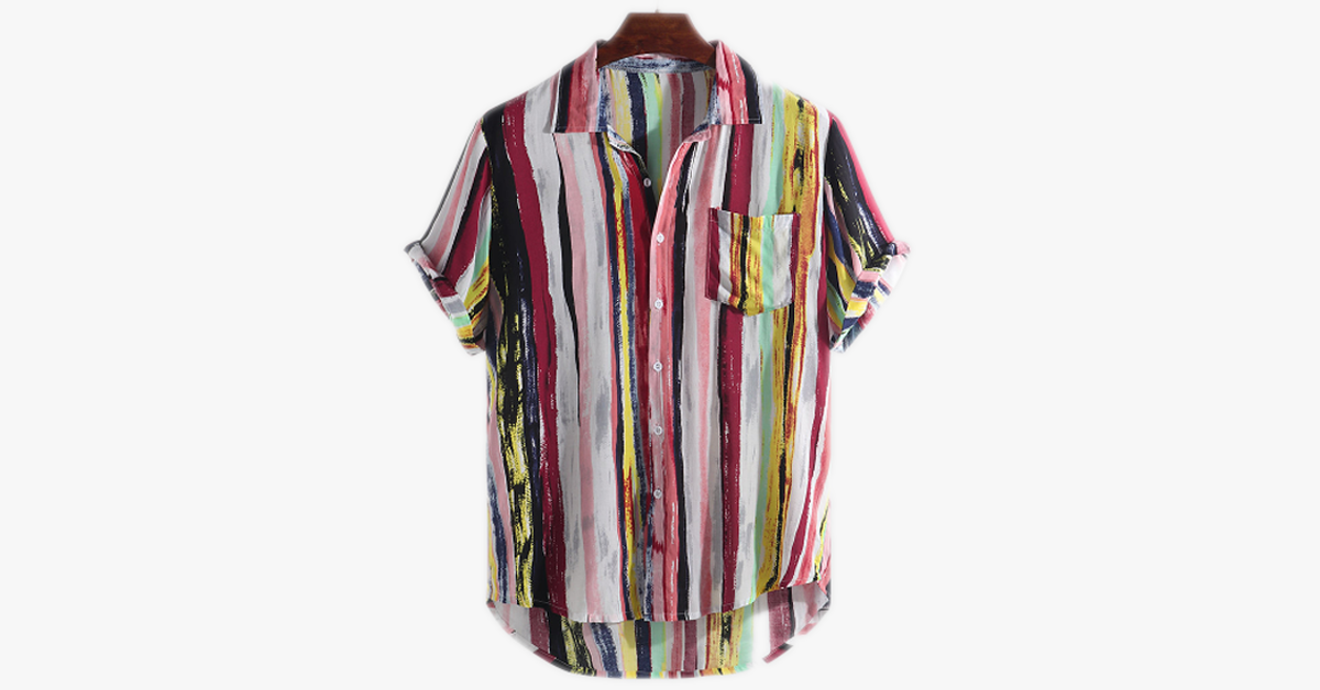 Short Sleeve Round Hem Loose Shirts