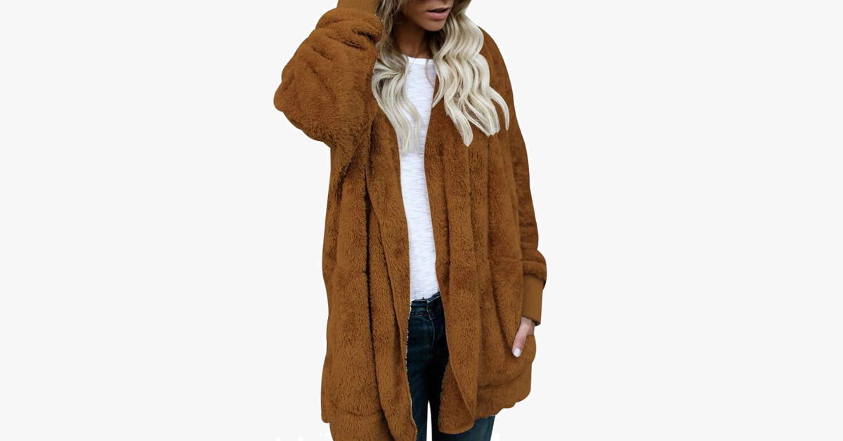 Fuzzy Faux Fur Winter Cardigan
