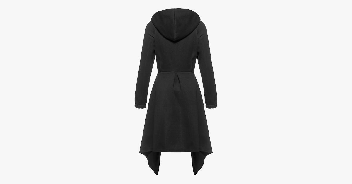 Women's Long Street-wear Trench Coat