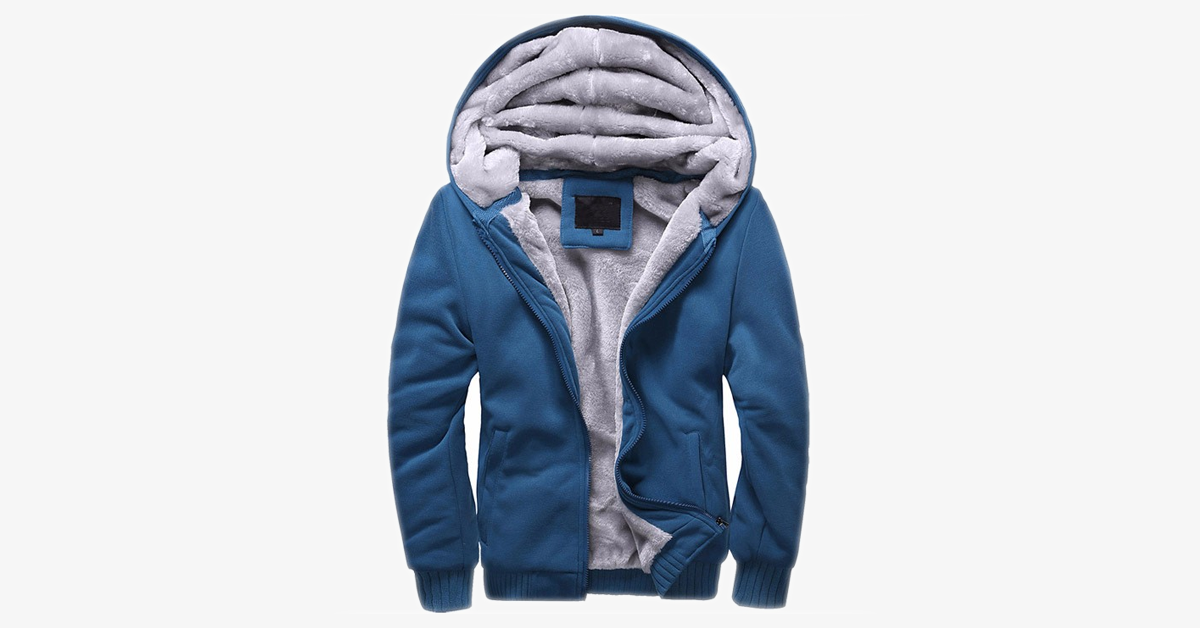 Fleece Lined Zip-up For Men