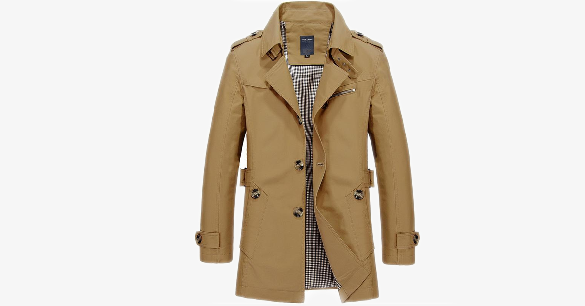 Men's Slim Fit Trench Coat