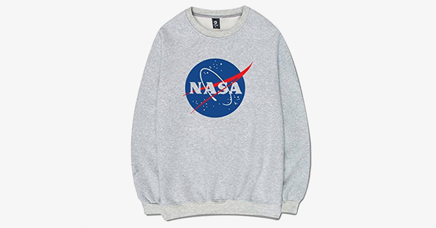 NASA The Milky Way Long Sleeved Sweater