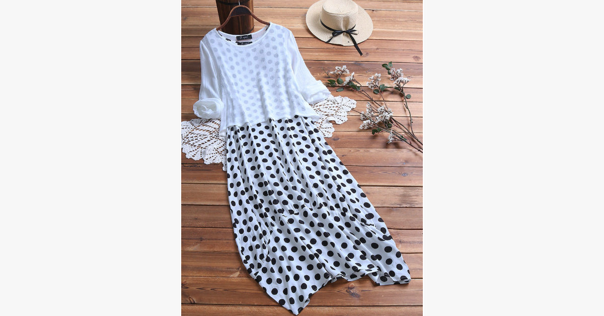 Polka Dot Plus Size Dress