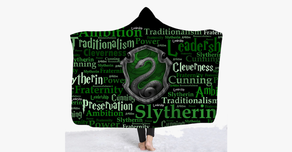3D Printed Houses Of Hogwarts Hooded Blanket