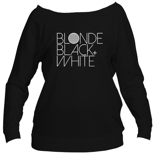 Blonde Black and White 3/4 Sleeve Sweatshirt