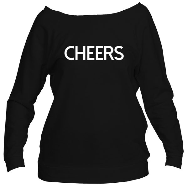 3/4 Sleeve Off Shoulder CHEERS Sweatshirt