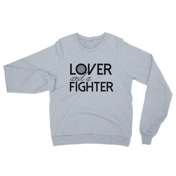 Lover and a Fighter Unisex Raglan sweatshirt