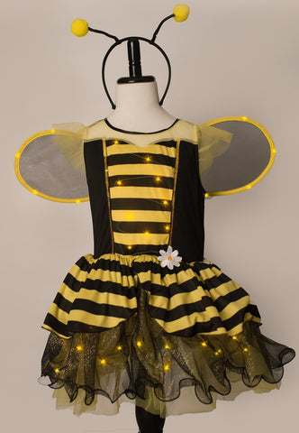Girls Bumble Bee Light Up Costume