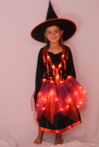 Girls Magical Witch Light Up Costume