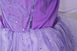 Girls Sparkling Purple Fairy Light Up Costume