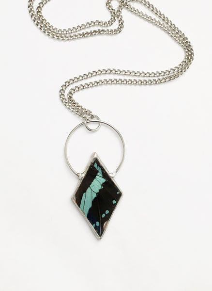 Nireus Necklace - Green Banded Swallowtail