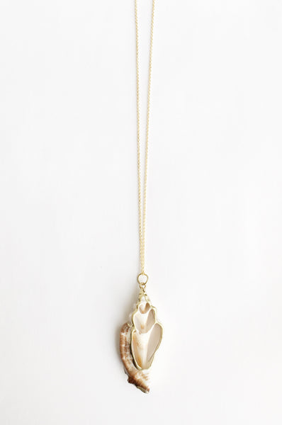 24k Gold Plated Seashell Necklace