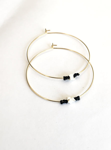 Snake Vertebrae Hoop Earrings