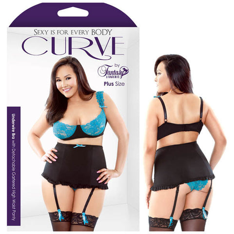 Curve Camille Underwire Bra With Detachable Gartered High Waist Panty