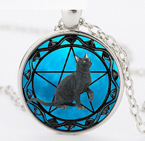 Black Cat Pendant Necklace Collar