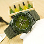 Army Soldier Fabric Analog Quartz Wristwatch Relogio Masculine Clock