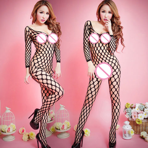 Fishnet See-through Body Stocking