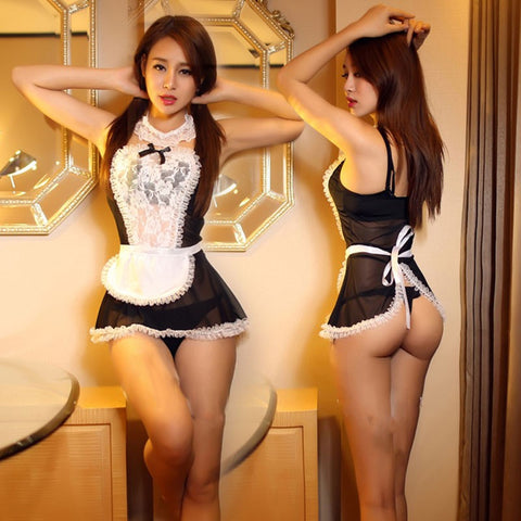 French Maid Sexy Costume Lingerie