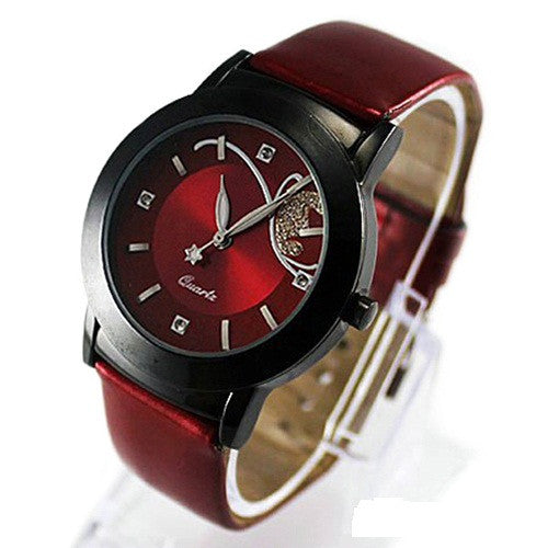 Quarz-analoge Quarz-Armbanduhren Luxus