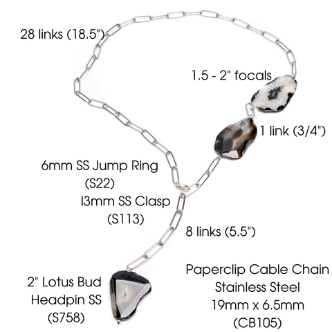 Paperclip Necklace Specifications