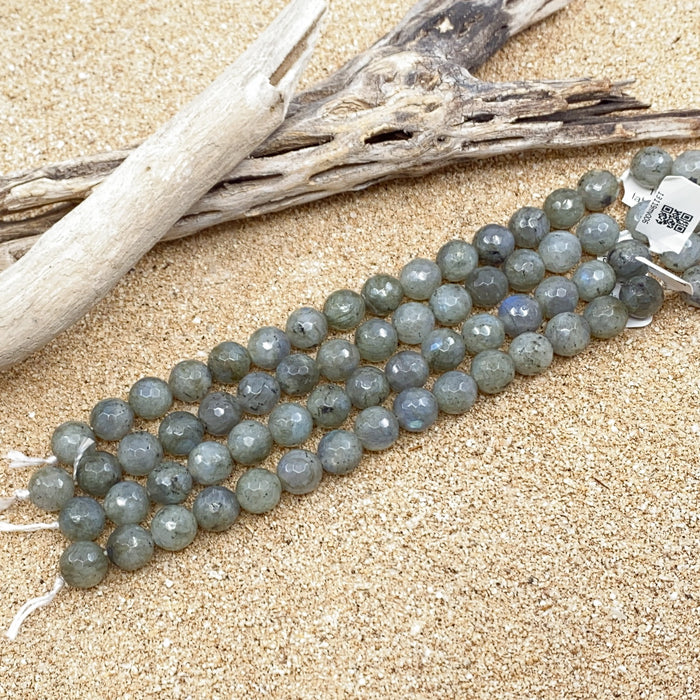 Labradorite Strand - 10mm Faceted Round