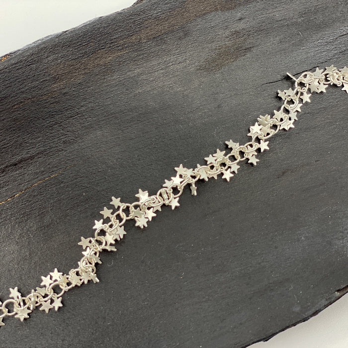 Star Chain - Teeny Tiny Star Charms Silver
