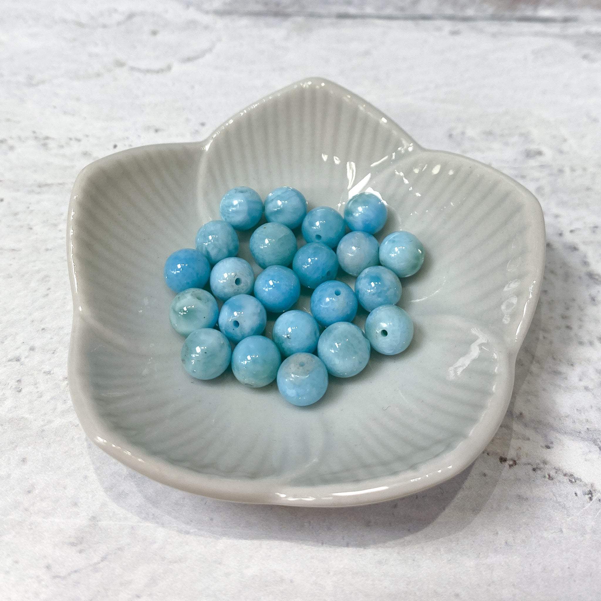 Larimar Bead - 6mm (1pc)