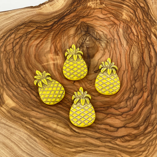 Pineapple Beads With Gold Inlay