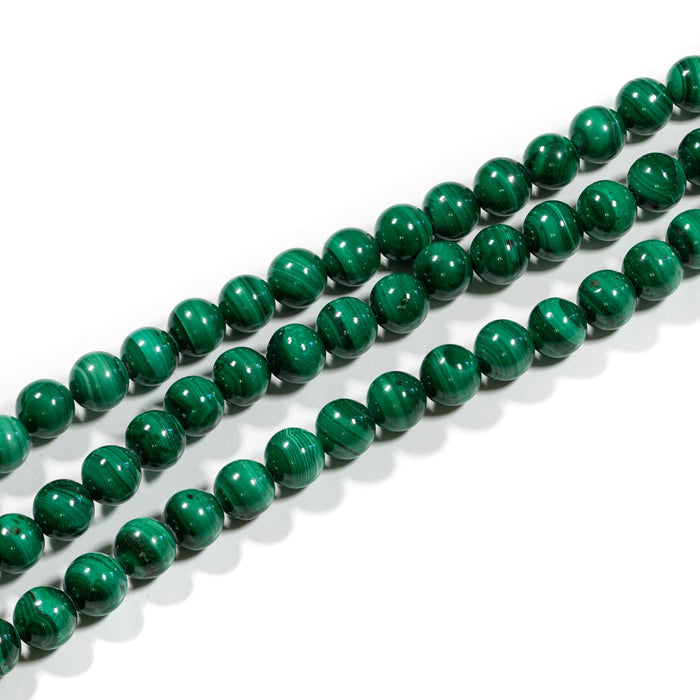 Malachite Strand - 6mm Smooth Round