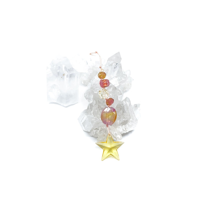 Crystal Light Catcher Kit - Yellow Star with Pinks