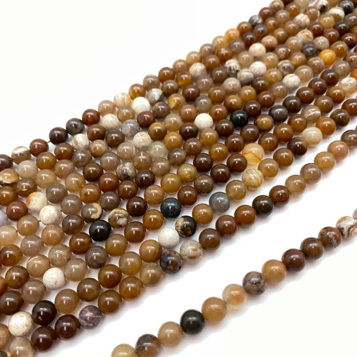 Brown Agate Strand - 6mm
