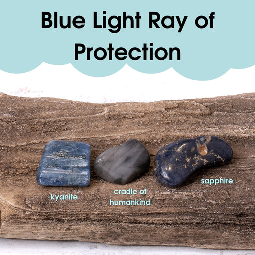 Tumbled Gem Set: Blue Light Ray of Protection