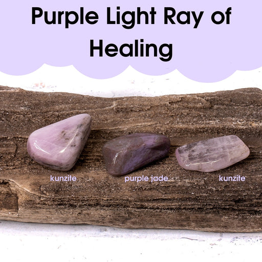 Tumbled Gem Set: Purple Light Ray of Healing