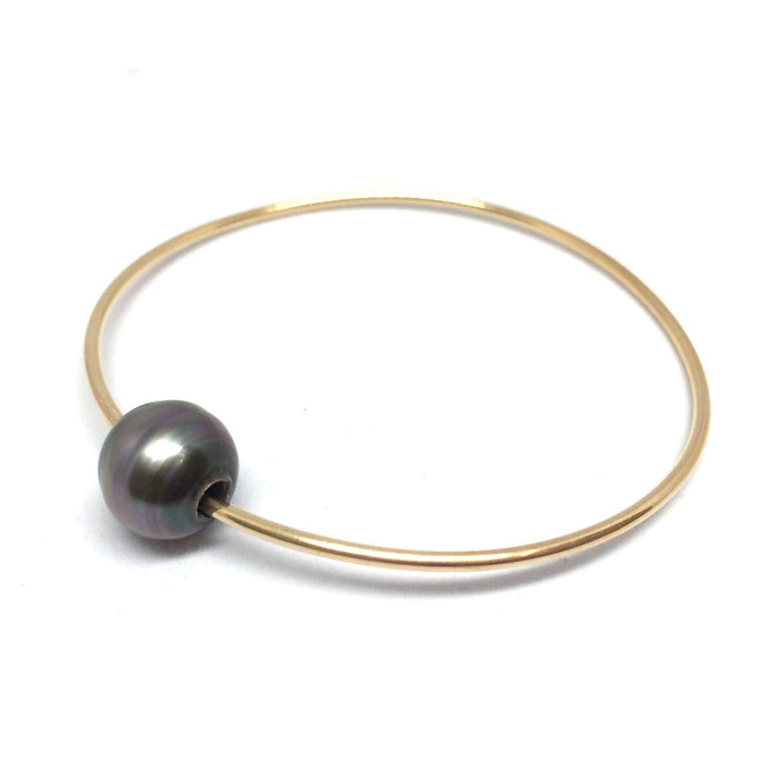 CUSTOM: Tahitian Pearl Gold-Filled Bangle Class