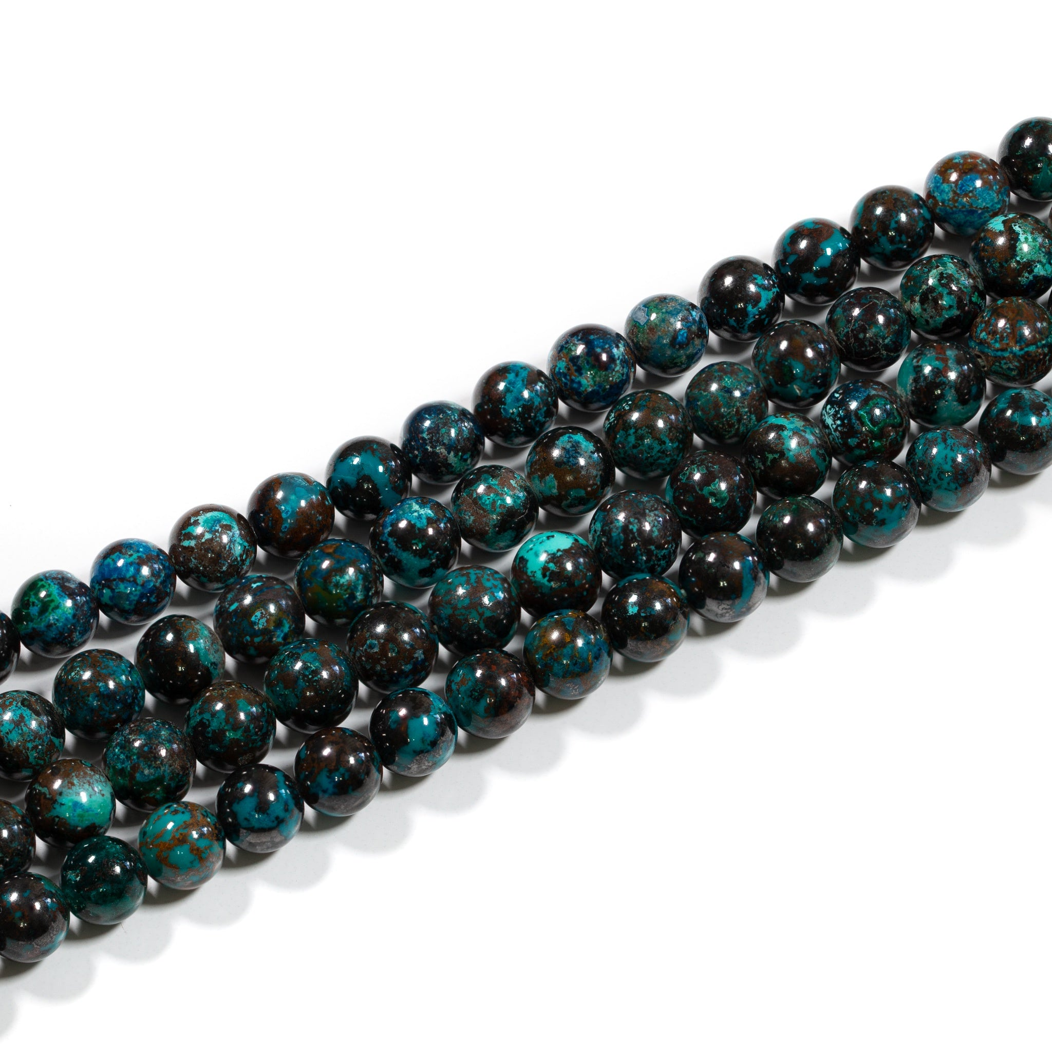 Chrysocolla Strand - 6mm Smooth Round