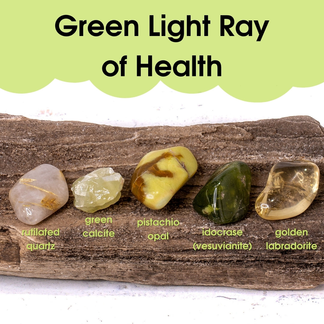 Tumbled Gem Set: Green Light Ray of Health