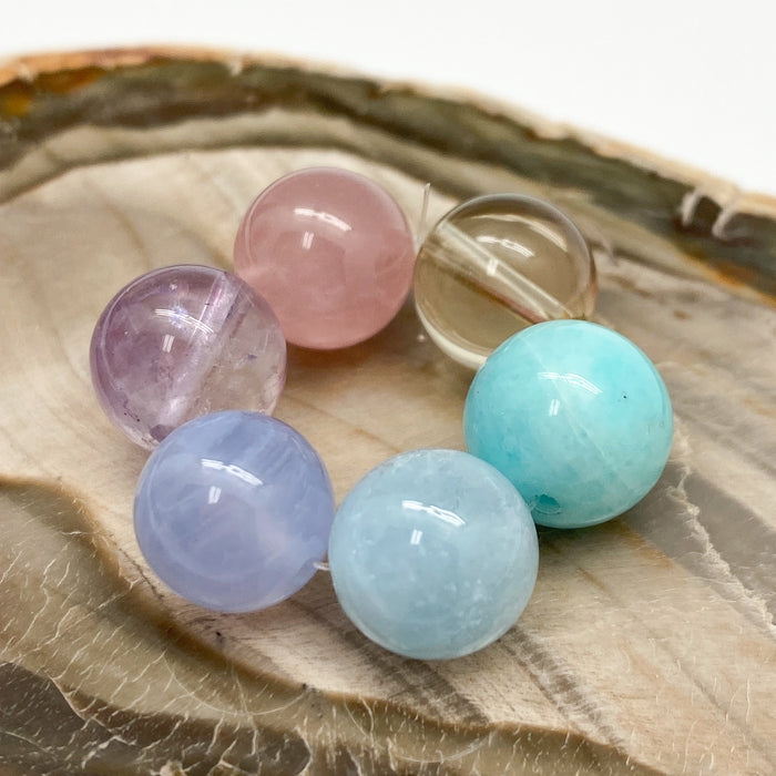 Peace, Love & Happiness 10mm gemstone set - 6 pc.