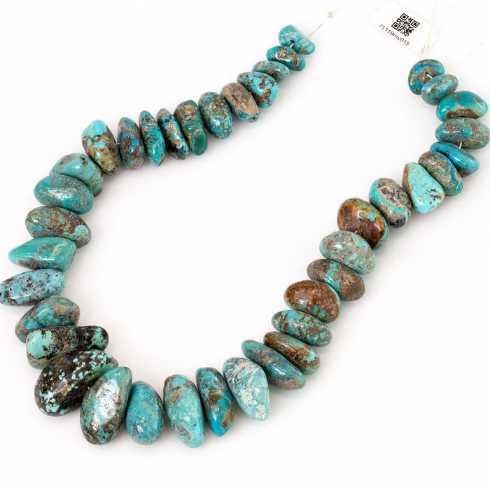 Kingman Turquoise Strand - 5x12mm to 14x30mm Graduated Tumbled Chunky Chip
