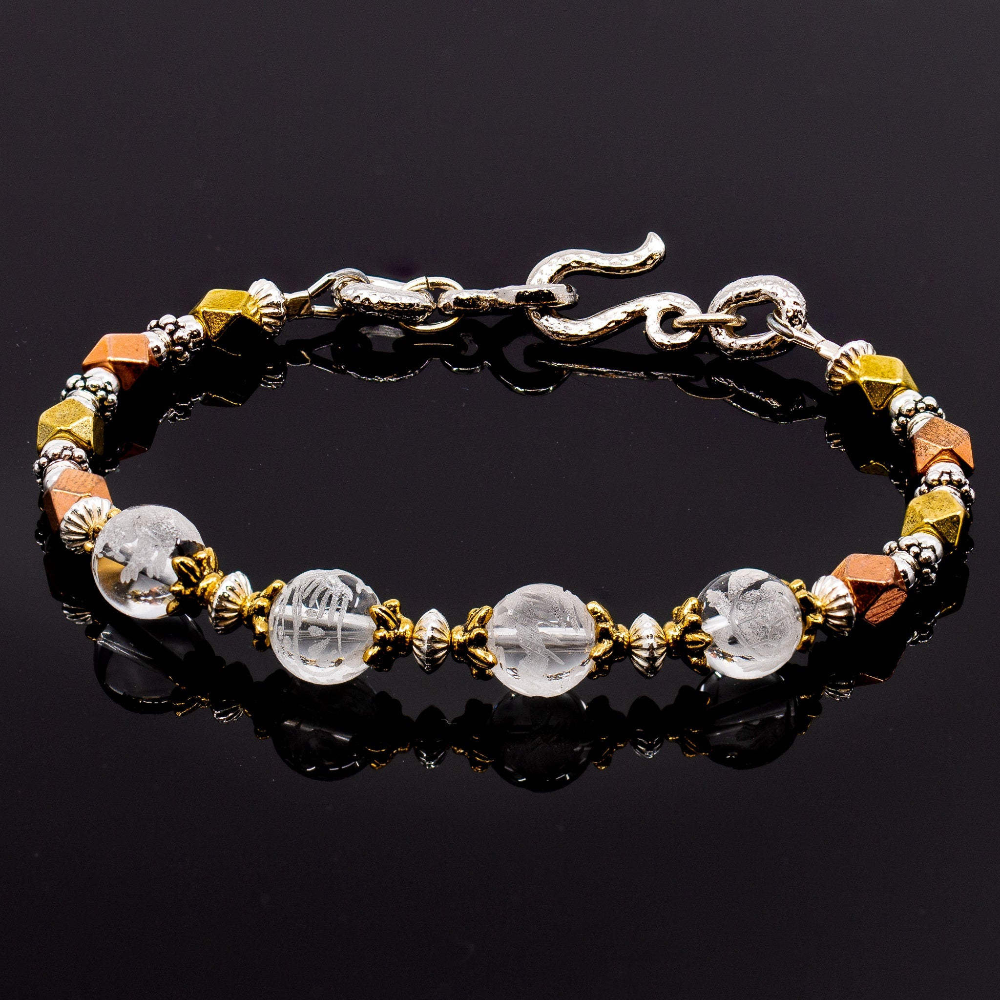8mm Feng Shui Mixed Metal Bracelet Kit